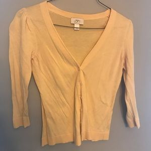 J. Crew Sweaters - ann taylor loft yellow button down sweater